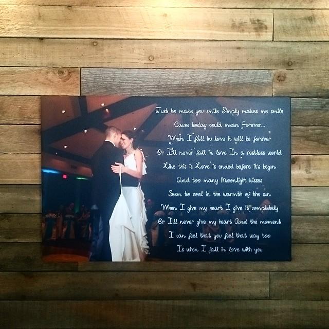 15x30 Wedding Lyrics On Canvas